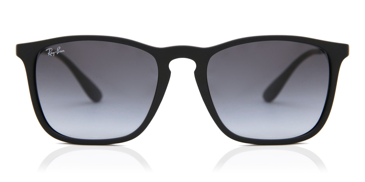 Ray Ban Rb4187 Chris 622 8g Sunglasses In Rubber Black Smartbuyglasses Usa